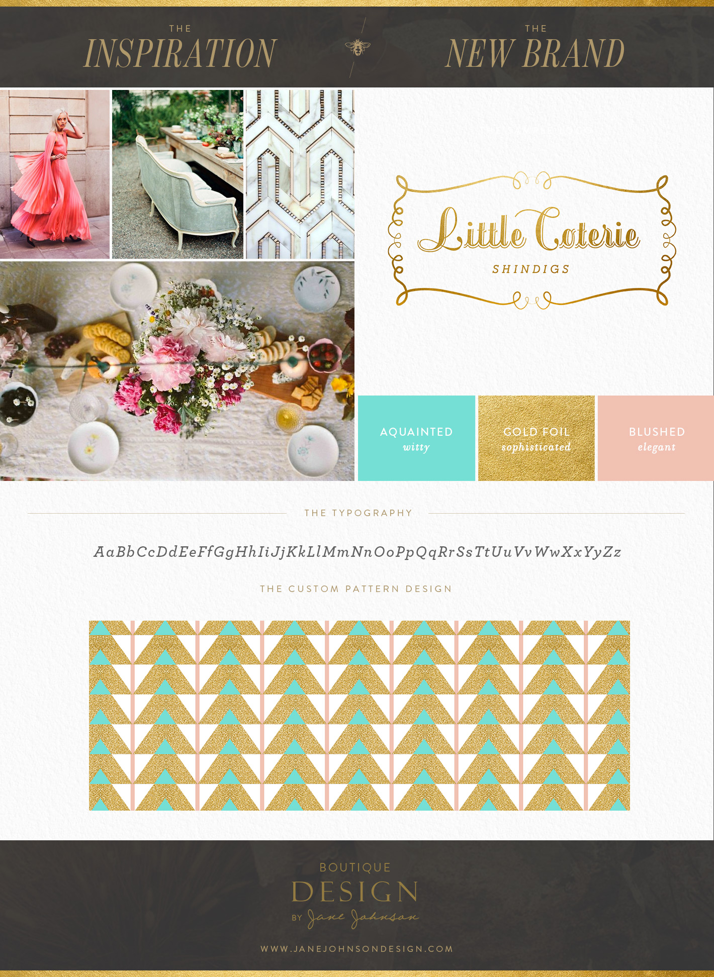 Custom Brand Design for Event Planners: Little Coterie